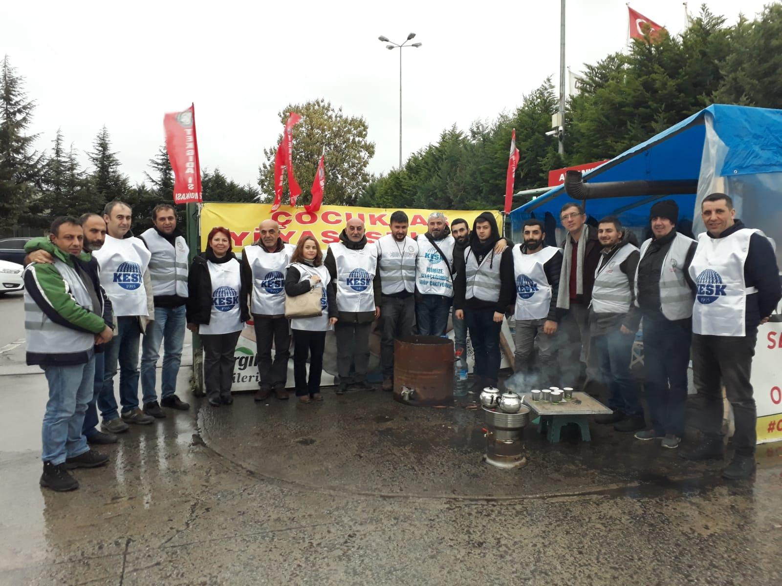 KESK Bursa Şubeler Platformu Direnişteki Cargill İşçilerini Ziyaret Etti