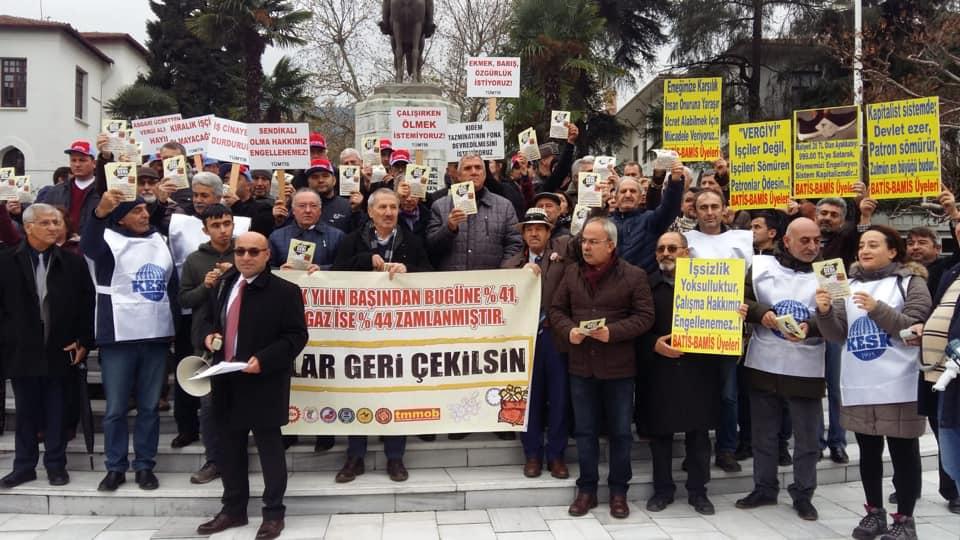 Bursa: Krizin Bedelini Ödemeyeceğiz, Yapılan Zamlar Geri Çekilsin
