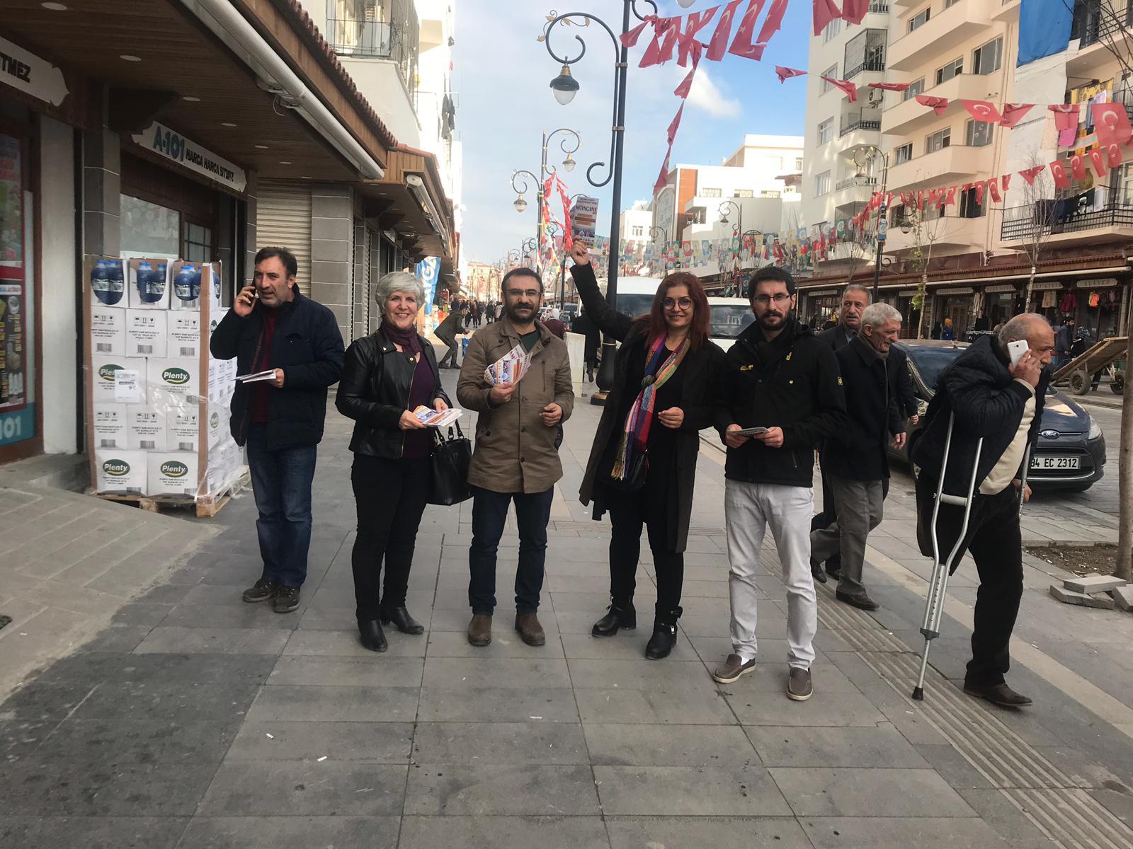 16 Aralık Diyarbakır Bölge Mitingine Çağrı İçin Bildiri Dağıtıldı