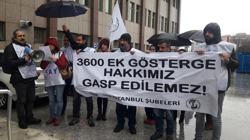 İstanbul Şubelerimiz 3600 Ek Gösterge Hakkı İçin Eylem Yaptı