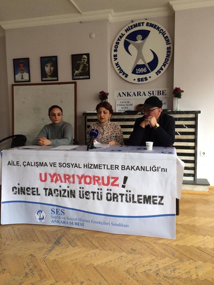 Bakanlığı Uyaran Ankara Şubemiz: Cinsel Tacizin Üstü Örtülemez