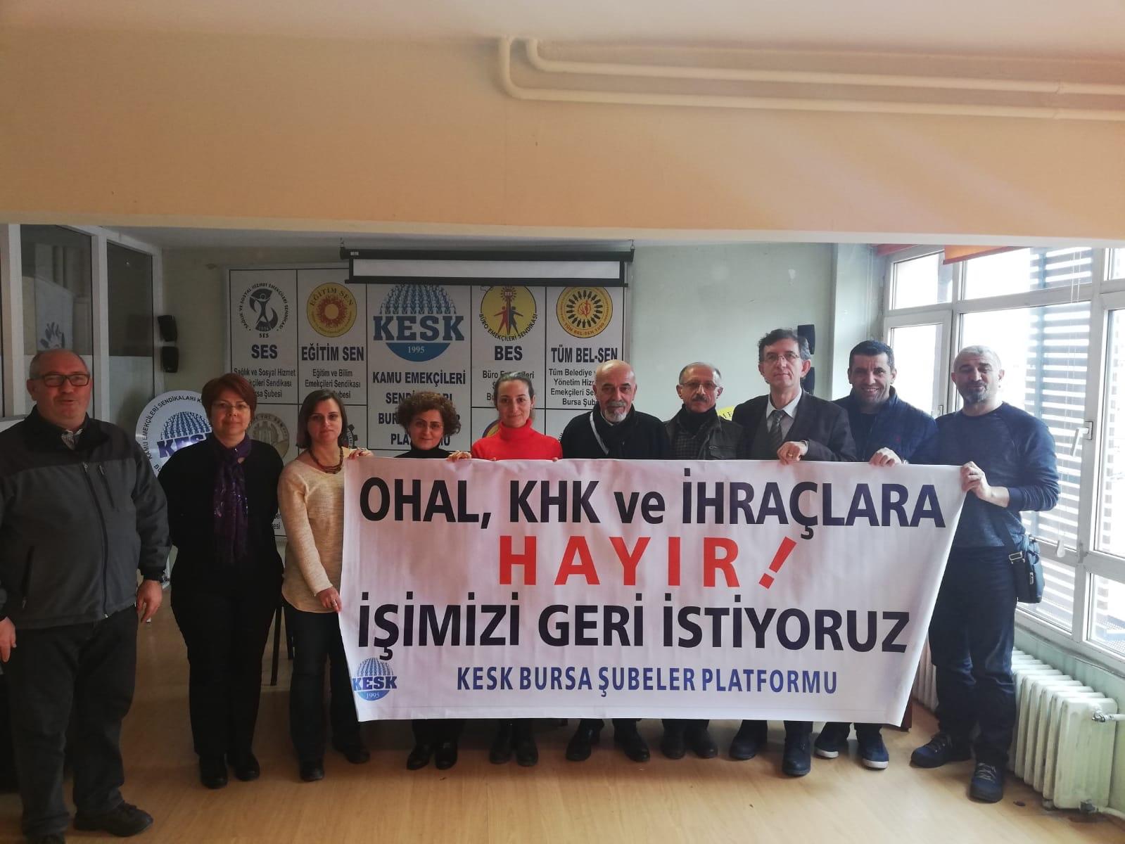 Bursa: Anayasal Suç İşleyen OHAL Komisyonu Derhal Lağvedilmelidir