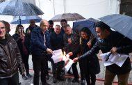 Mersin'de Bordro Yakma Eylemi Gerçekleştirildi