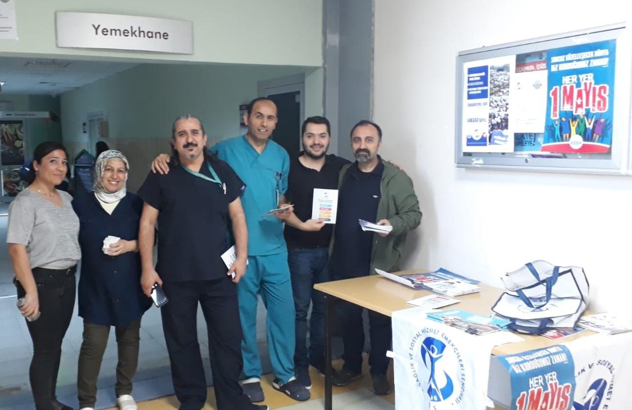 Kanuni Sultan Süleyman Hastanesi Emekçileri 1 Mayıs'a ve 11 Mayıs Ankara Buluşmasına Davet Edildi