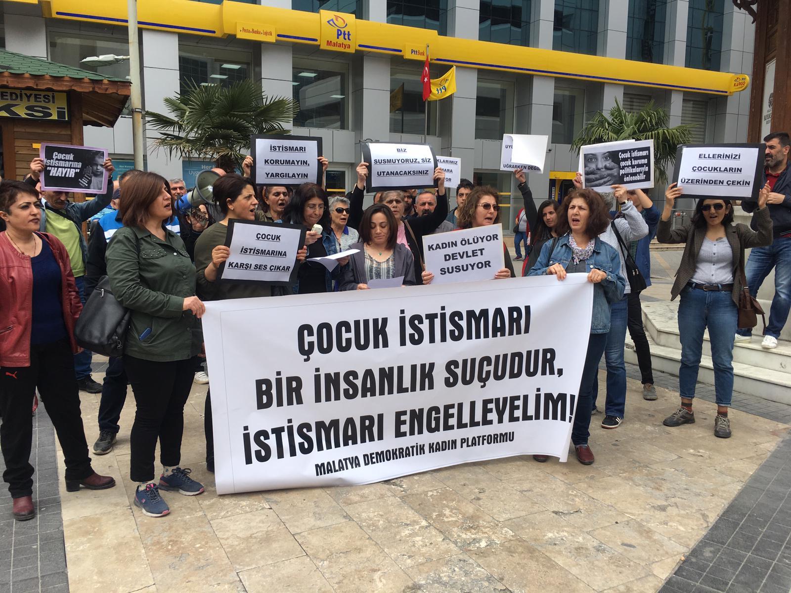 Malatya Demokratik Kadın Platformu'ndan Çocuk İstismarına Karşı Eylem