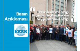 Halkın İradesine Saygı, Seçme Ve Seçilme Hakkına Saygı, İstanbul'a Saygı!