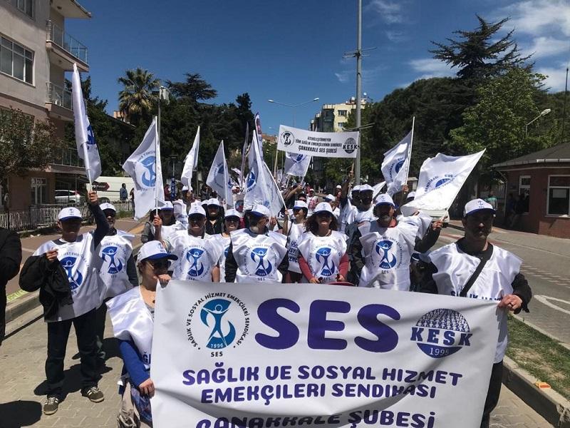 Sağlık ve Sosyal Hizmet Emekçileri Talepleriyle 1 Mayıs'ta Alanlardaydı (GÜNCELLENİYOR)