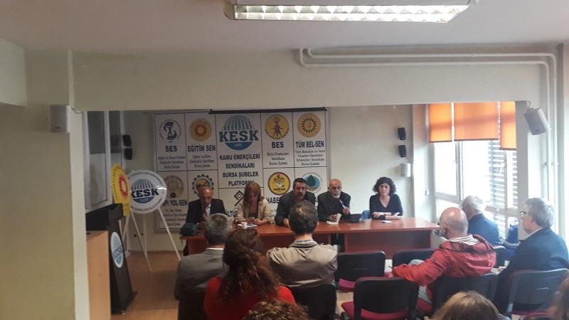 """Bursa'da """"Güvencesizliğe Son! Güvenceli Gelecek Haktır"""