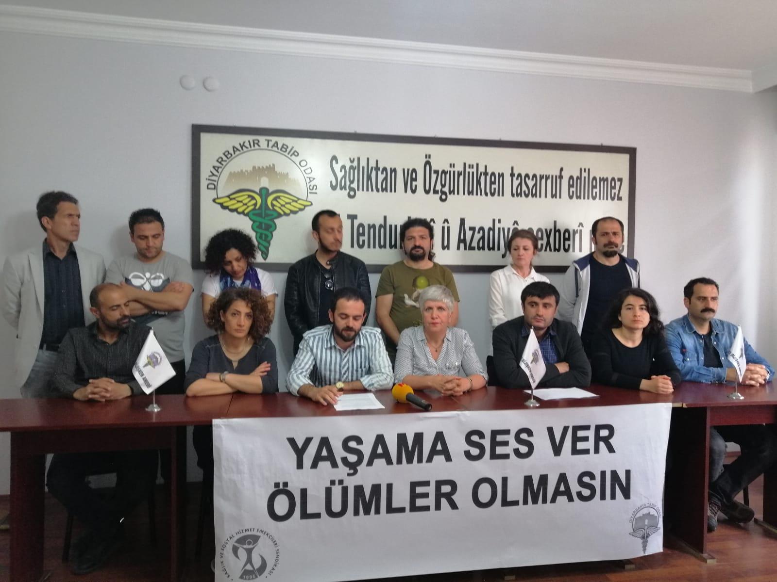 Diyarbakır Şubemiz ve Diyarbakır Tabip Odası: Devam Eden Açlık Grevleri Yaşamı Tehdit Edici Boyutlara Ulaşmıştır!