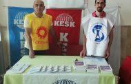 Sivas KESK Şubeler Platformu Cumhuriyet Üniversitesi'nde TİS Standı Açtı