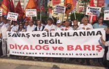 Adana'da Emek ve Demokrasi Güçlerinden Dünya Barış Günü Açıklaması