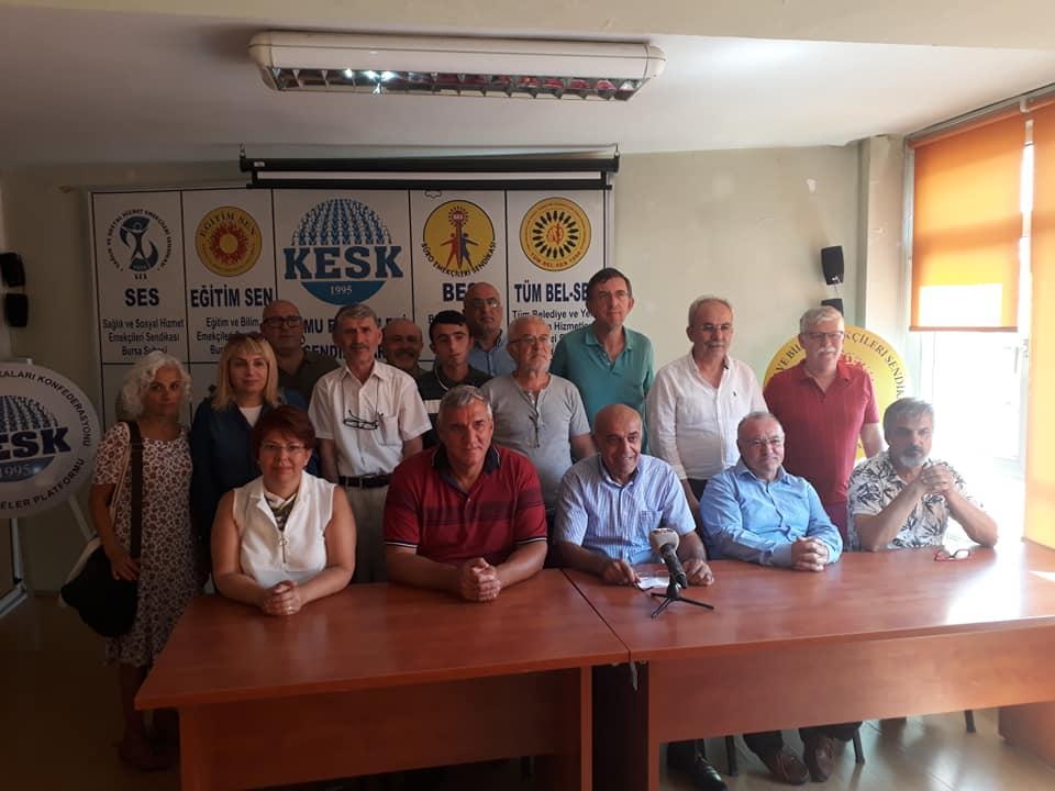 Bursa KESK Şubeler Platformu'ndan Dünya Barış Günü Açıklaması