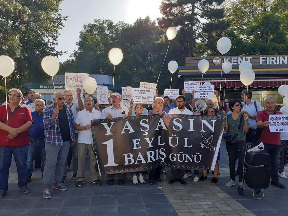 Kayseri'de Dünya Barış Günü Açıklaması