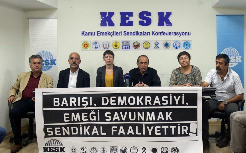 KESK: Barışı, Demokrasiyi Emeği Savunmanın Sendikal Hak Olduğunu Gör(E)Meyen AYM Kararını Kınıyoruz!