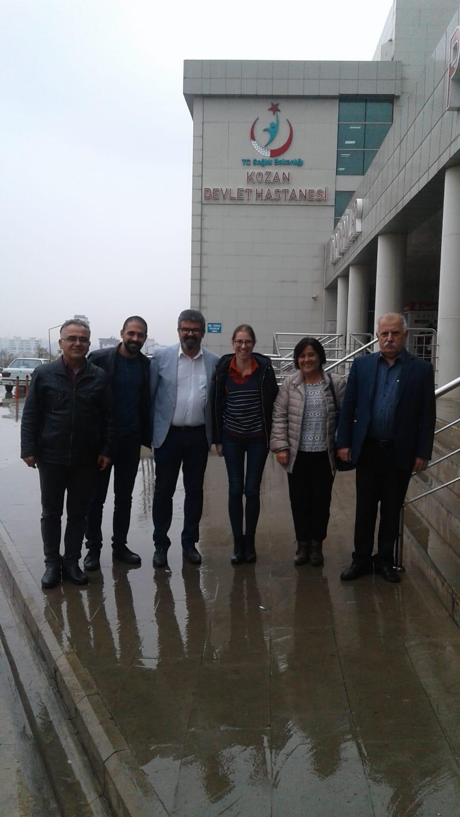 Adana Şube Yöneticilerimiz Kozan Devlet Hastanesi'nde Sağlık ve Sosyal Hizmet Emekçileriyle Bir Araya Geldi