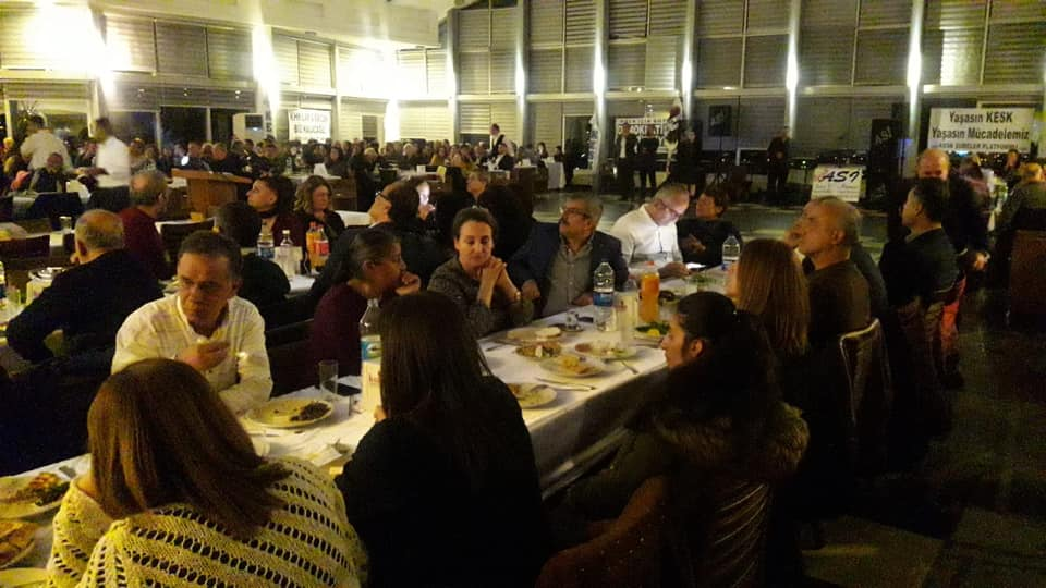 KESK Hatay Şubeler Platformu KESK'in 24. Yıl Dönümünde Yemek Düzenledi