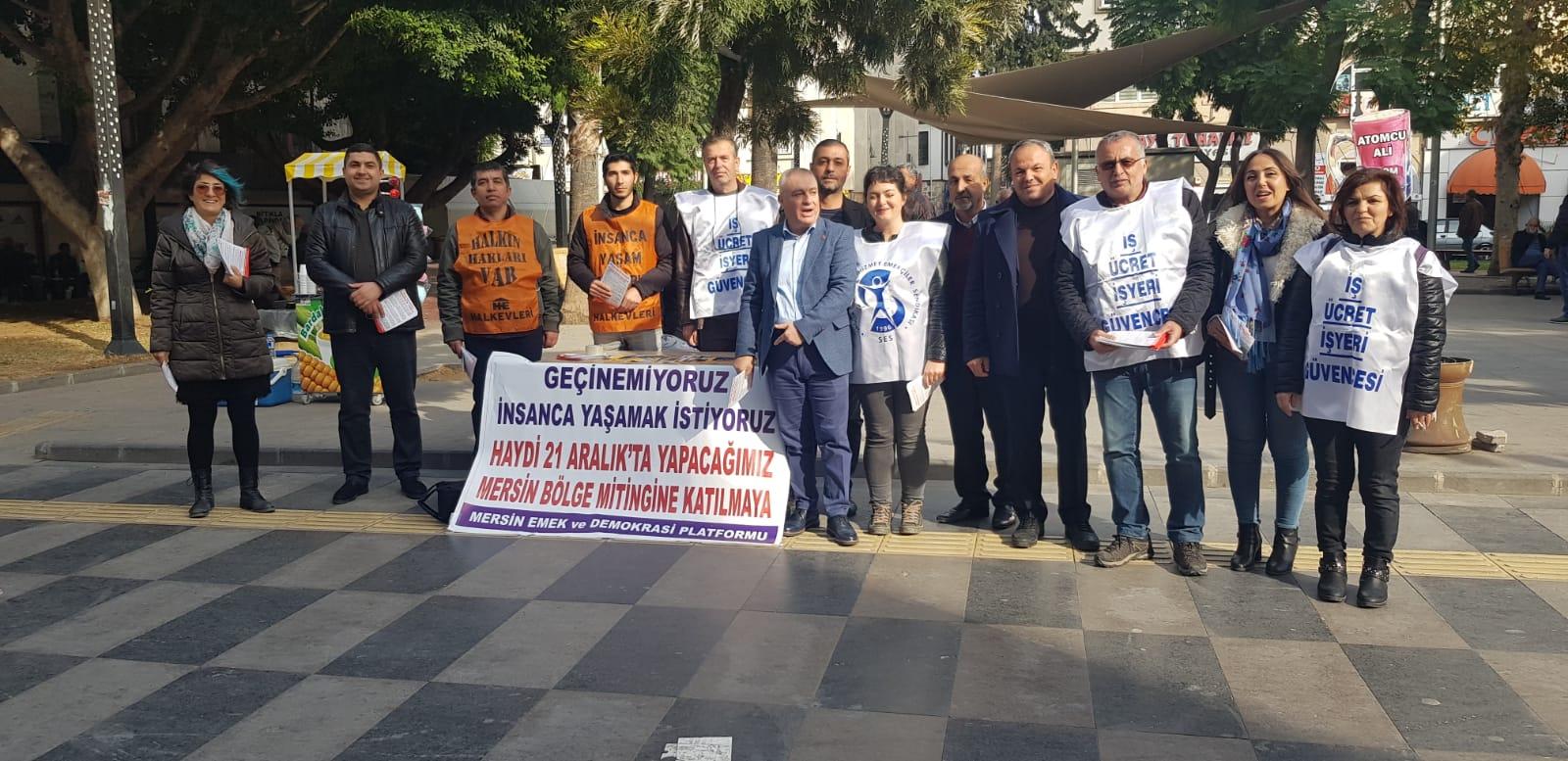 Mersin'de Halk İçin Bütçe Mitinginin Çalışmaları Başladı