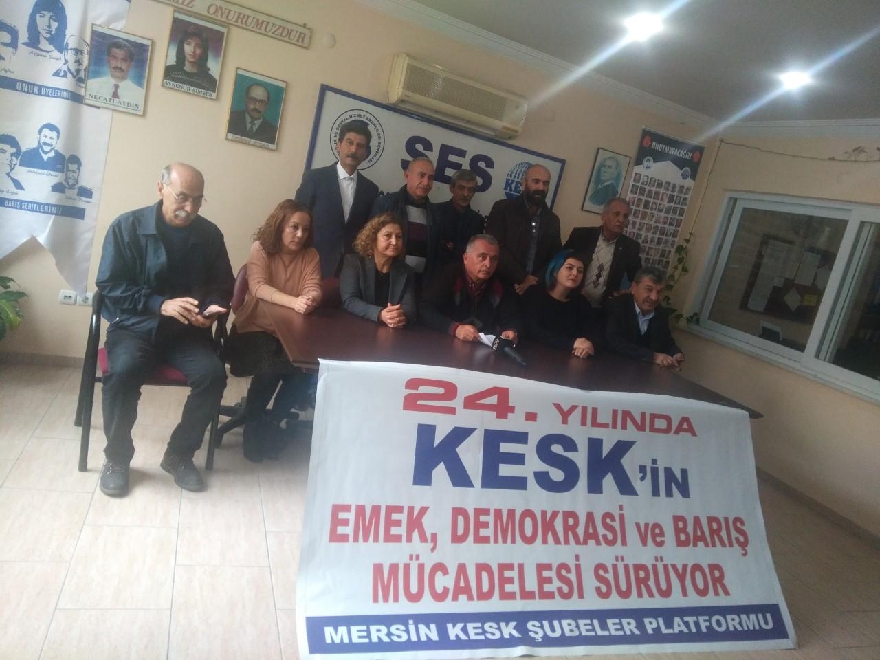 KESK Mersin Şubeler Platformu'ndan KESK'in 24. Yılı Açıklaması: Umudu ve Mücadeleyi Büyütmeye Devam Edeceğiz!