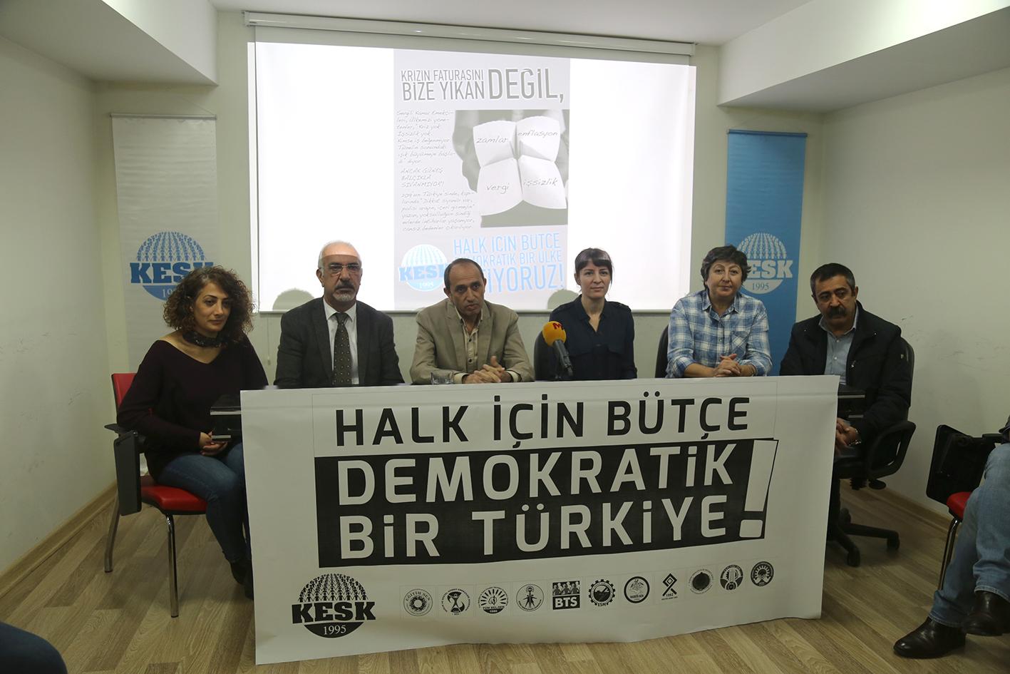 KESK: Halk İçin Bütçe, Demokratik Bir Türkiye İstiyoruz!
