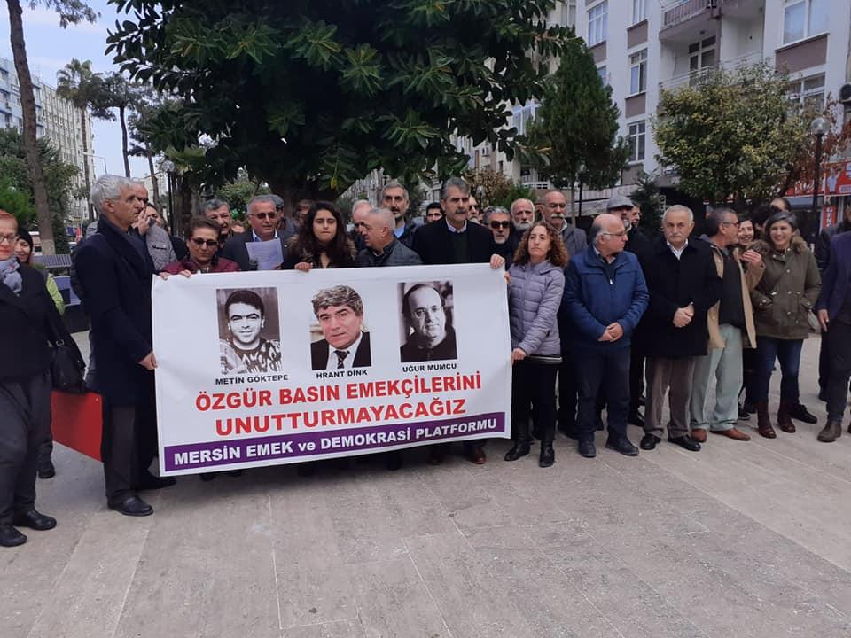 Mersin Emek ve Demokrasi Platformu: Özgür Basın Emekçilerini Unutturmayacağız!
