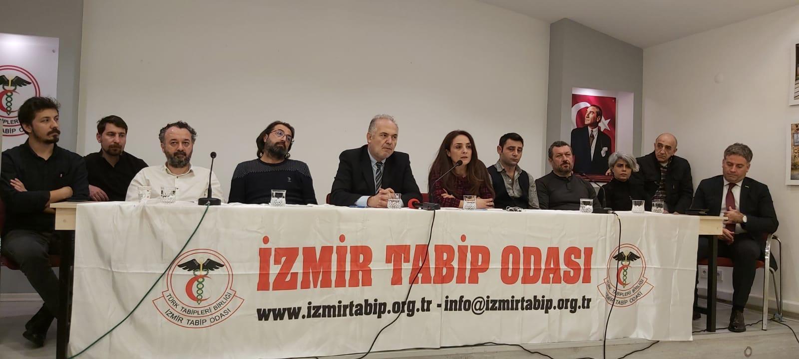 İzmir Sağlık Emek ve Meslek Örgütlerinden 15 Mart Ankara Büyük Beyaz Mitingi'ne Çağrı