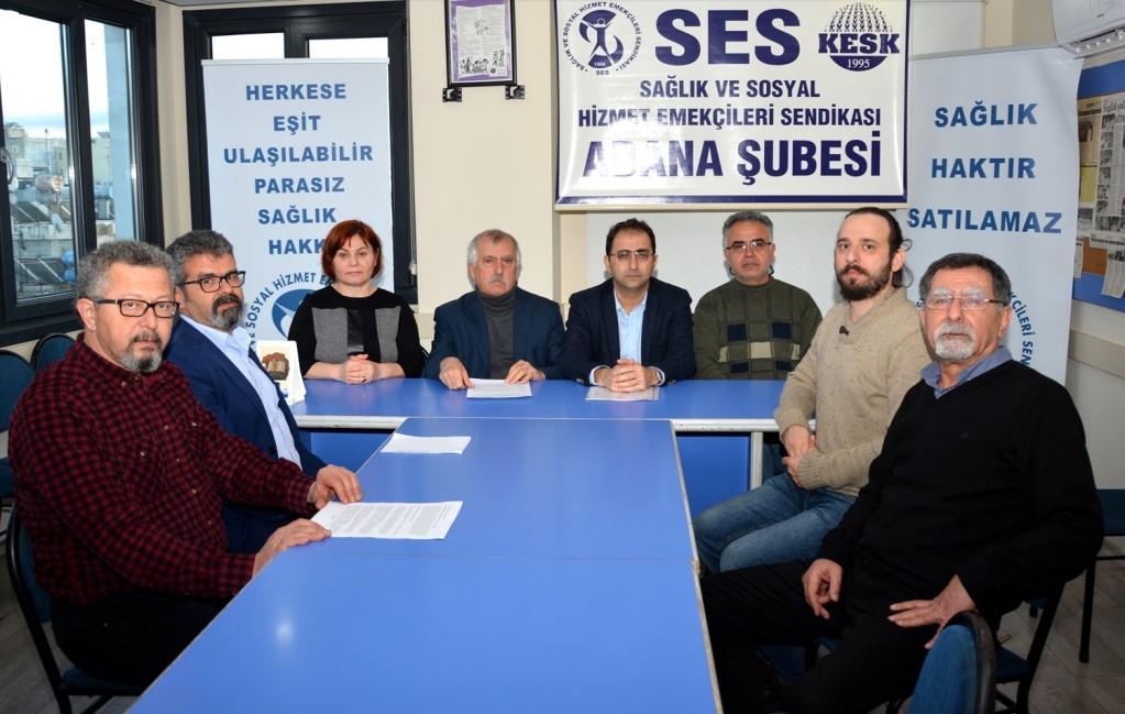 Adana Şubemiz ve Adana Tabip Odası: 15 Mart'ta Büyük Beyaz Mitingindeyiz