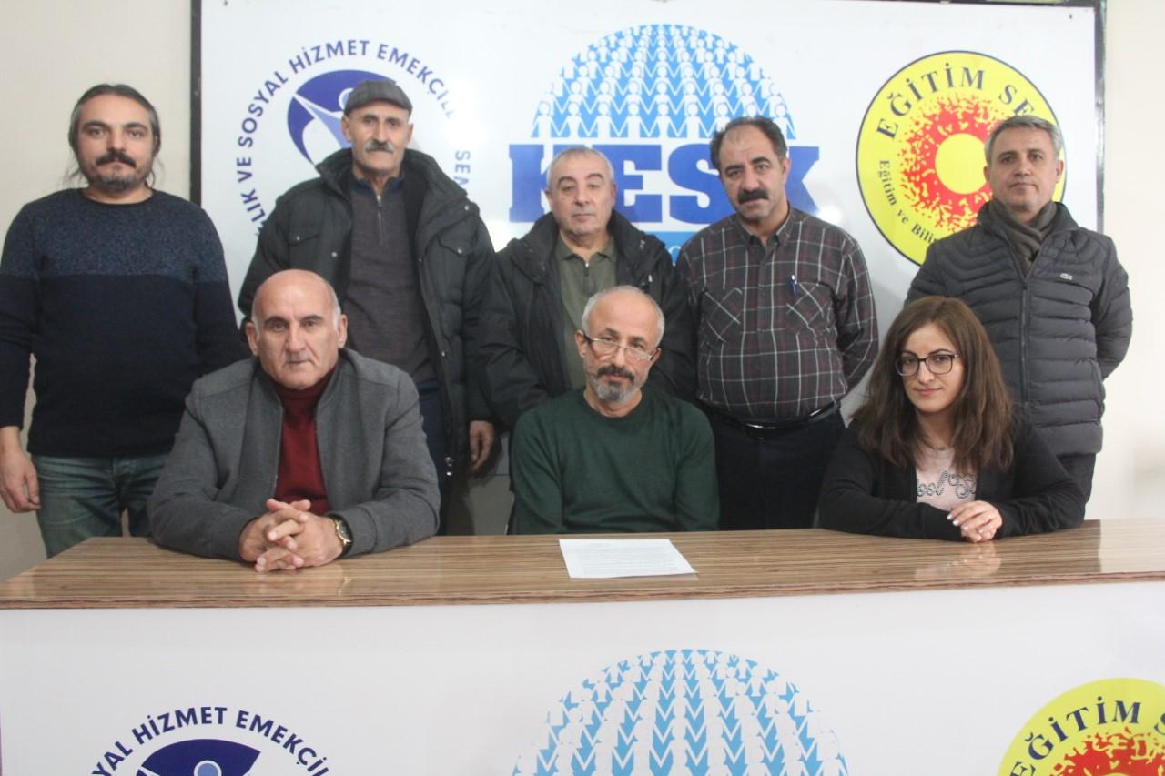 KESK Van Şubeler Platformu: Siyasi İktidar ve Kurumları Çığın Altında Kalmıştır!