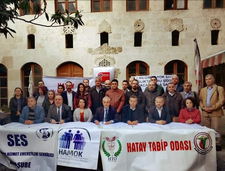 Hatay Sağlık Emek ve Meslek Örgütleri: Şiddet Ortamı Kader Değildir! 15 Mart'ta Ankara'da Beyaz Miting'deyiz