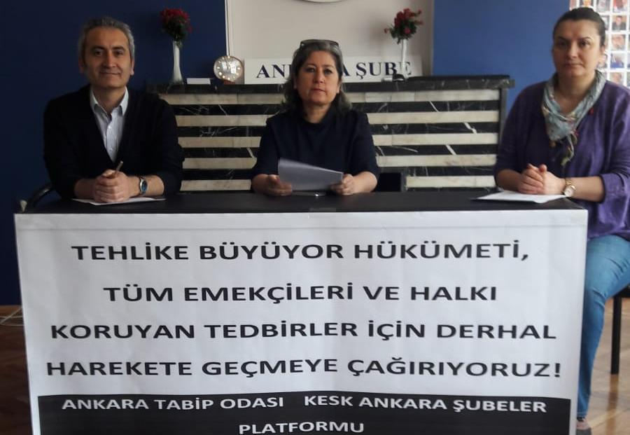 KESK Ankara Şubeler Platformu ve Ankara Tabip Odası: Hükümeti Tüm Emekçileri ve Halkı Koruyan Tedbirler İçin Derhal Harekete Geçmeye Çağırıyoruz!