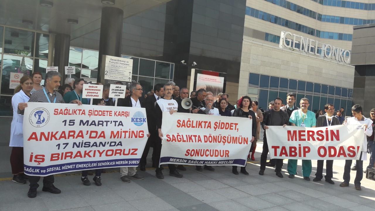 Mersin Sağlık Hakkı Meclisi: 15 Mart'ta Ankara'da Büyük Beyaz Miting'de Buluşuyoruz