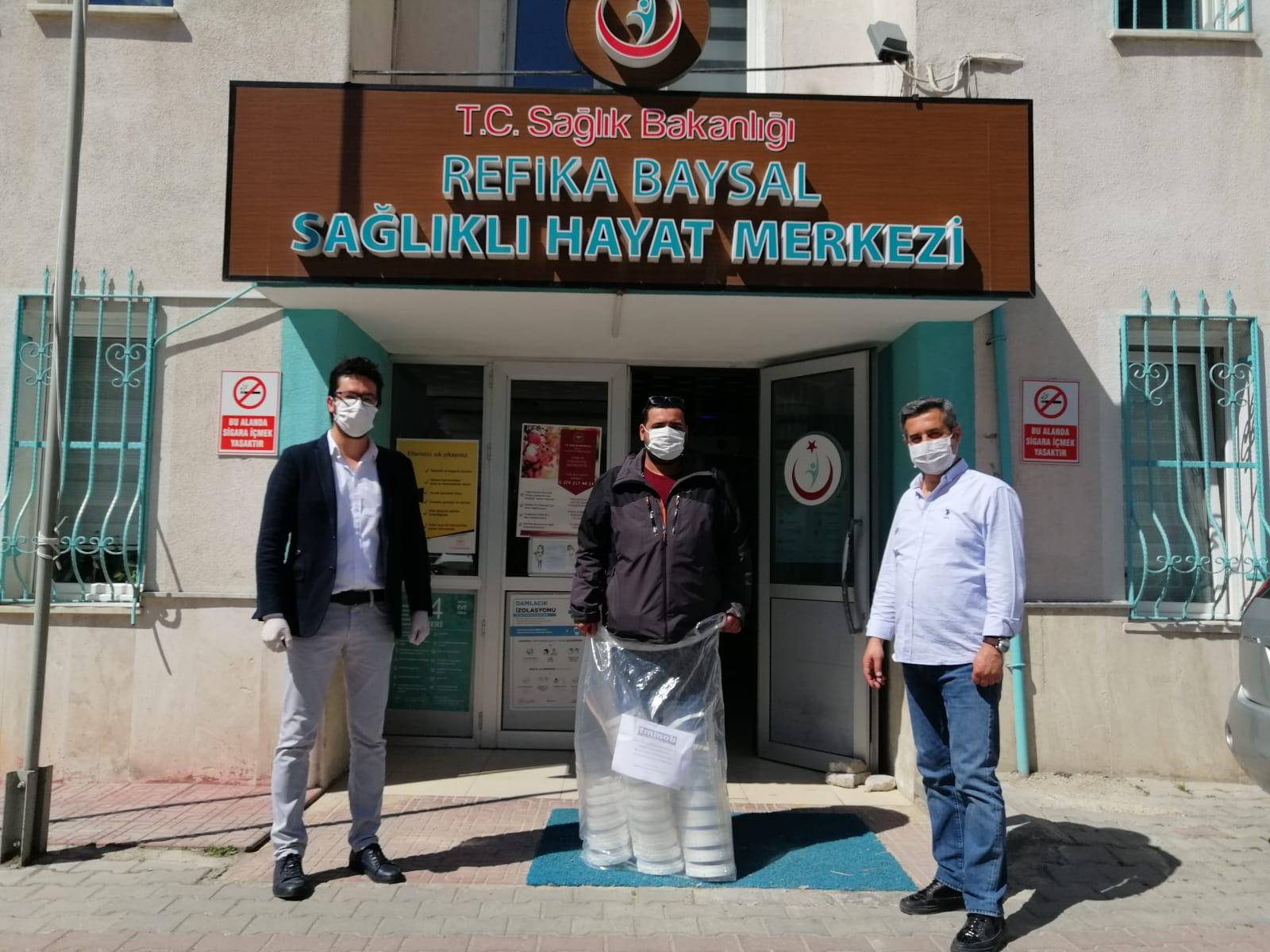 Bolu Şubemiz TMMOB Tarafından Gönderilen Siperlikleri Sağlık Emekçilerine Dağıttı
