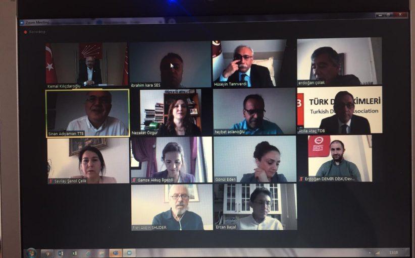 Sağlık Emek ve Meslek Örgütleri CHP Genel Başkanı Kemal Kılıçdaroğlu ile Telekonferans Gerçekleştirdi