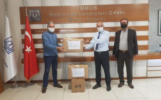 Bursa Şubemiz Makine Mühendisleri Odası'nın Bağışladığı Siperlikleri Üyelerimize Dağıttı