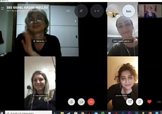 Merkez Kadın Meclisi Toplantımızı Skype Üzerinden Gerçekleştirdik