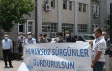 Şube/Temsilciliklerimiz Sürgünleri Protesto Etti