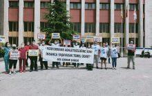 Edirne Şubemizden Trakya Üniversitesi Tıp Fakültesi Hastanesi Önünde Eylem