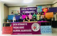 Urfa'da TCK 103 Çocuk Cinsel İstismar Affına Karşı Basın Toplantısı Yapıldı