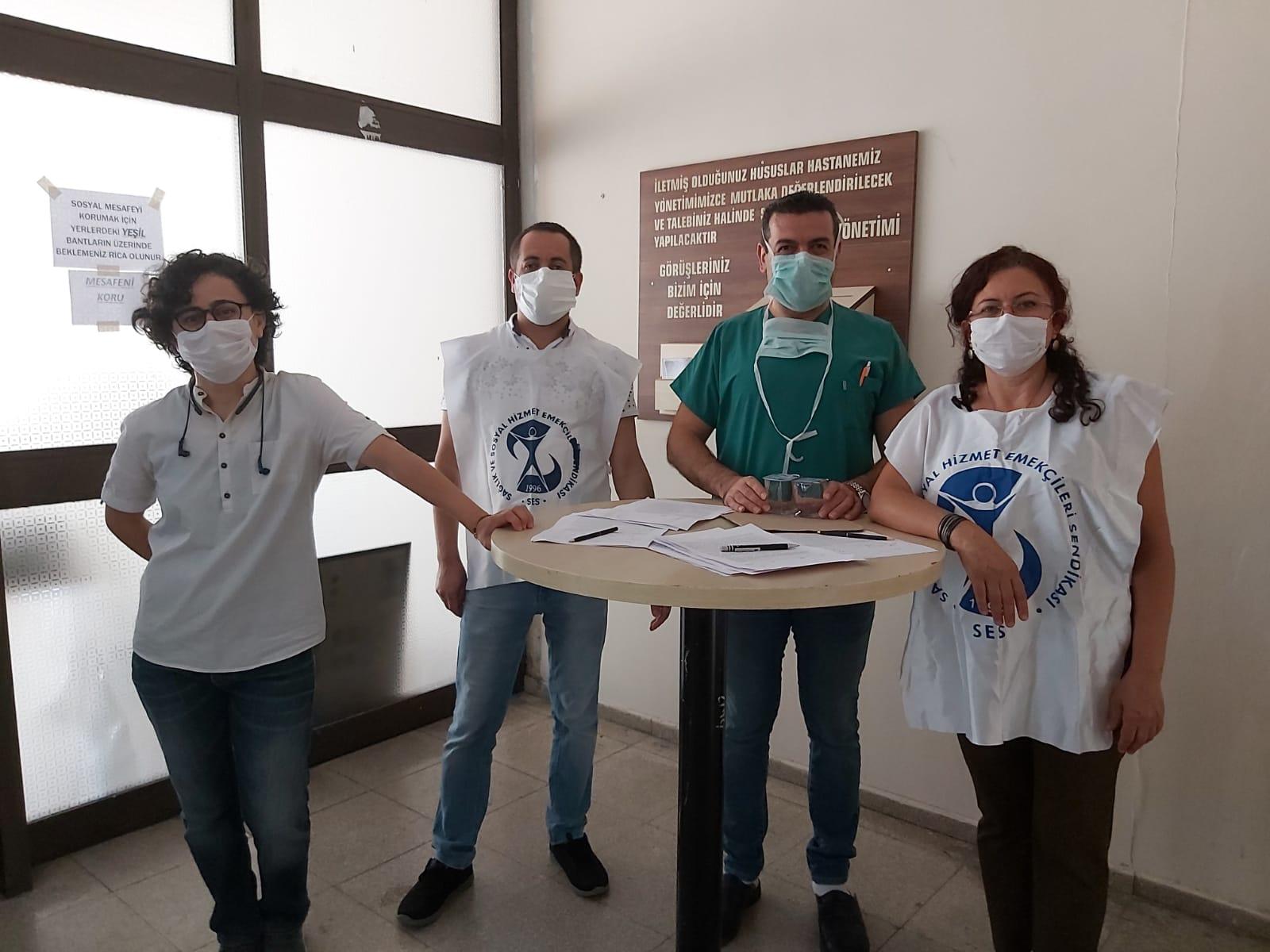 İzmir Şubemizden Temel Haklar ve Temel Ücret İçin İmza Kampanyası
