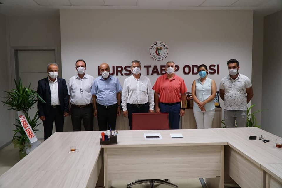 Bursa Şubemiz Yeni Seçilen Bursa Tabip Odası Yönetim Kurulu'nu Ziyaret Etti