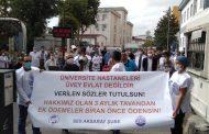 Cerrahpaşa Tıp Fakültesi Hastanesi Önünde Eylem Yapan İstanbul Aksaray Şubemiz: Hakkımız Olan Üç Aylık Tavandan Ek Ödeme Biran Önce Ödensin