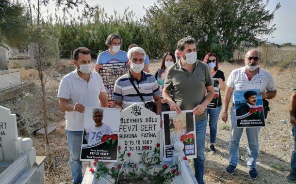 KESK Adana Şubeler Platformu 10 Ekim Katliamında Hayatını Kaybedenleri Mezarları Başında Andı