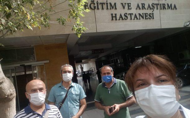 Ankara Şubemiz Dışkapı Eğitim ve Araştırma Hastanesi'nde Bildiri Dağıttı