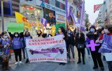 """İzmir'de """"Yaşamımızı Savunuyoruz"""" Açıklamasında Bulunan KESK'li Kadınlar 25 Kasım'da Alanlara Çıkma Çağrısı Yaptı"""