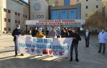 Diyarbakır Sağlık Platformu Covid-19 Nedeniyle Yaşamını Yitiren Sağlık Emekçisi Murat Esen İçin Anma Gerçekleştirdi