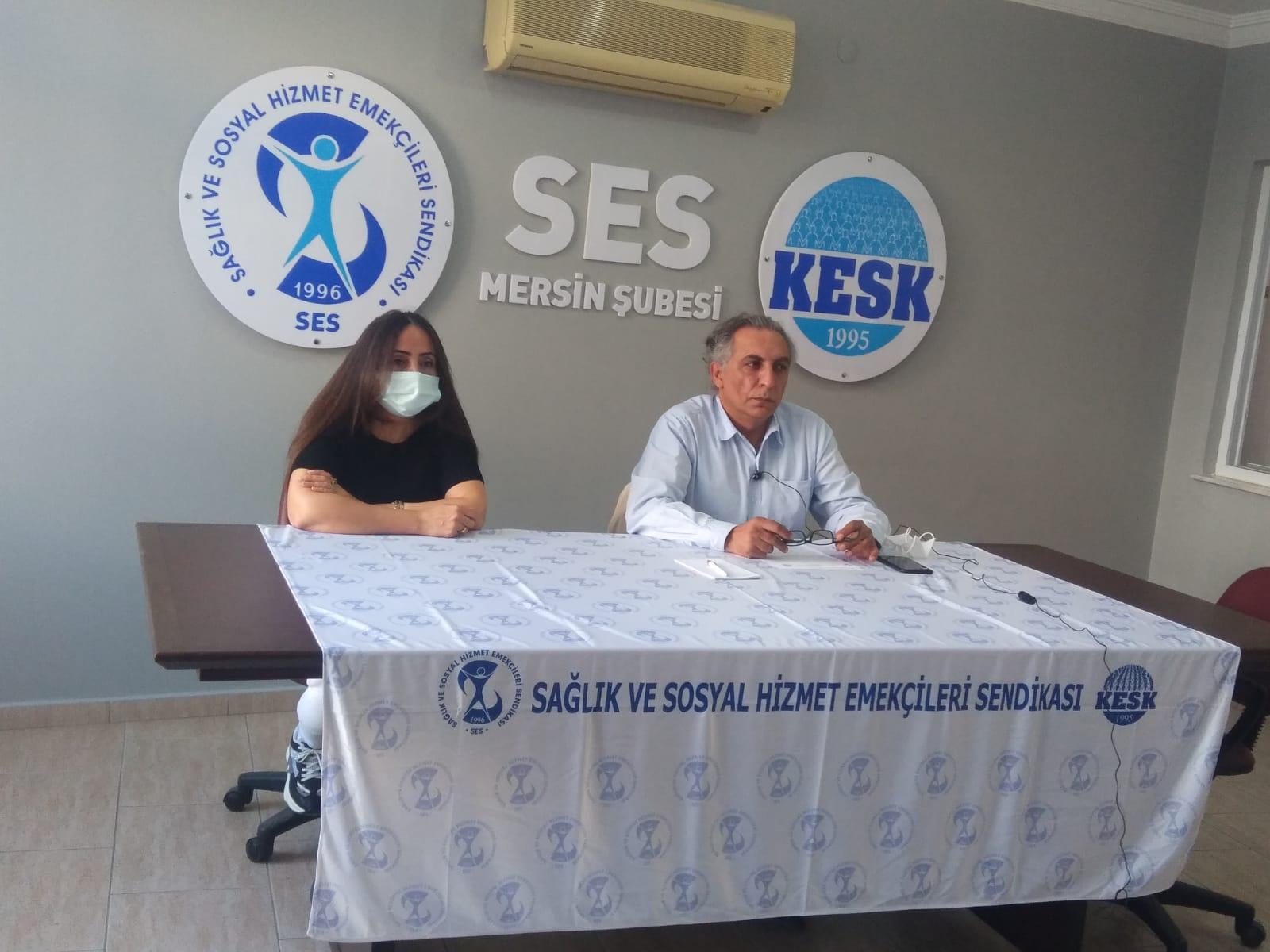 Mersin Şubemiz Sağlık Emekçilerine İmzalatılan Tebligata Tepki Gösterdi