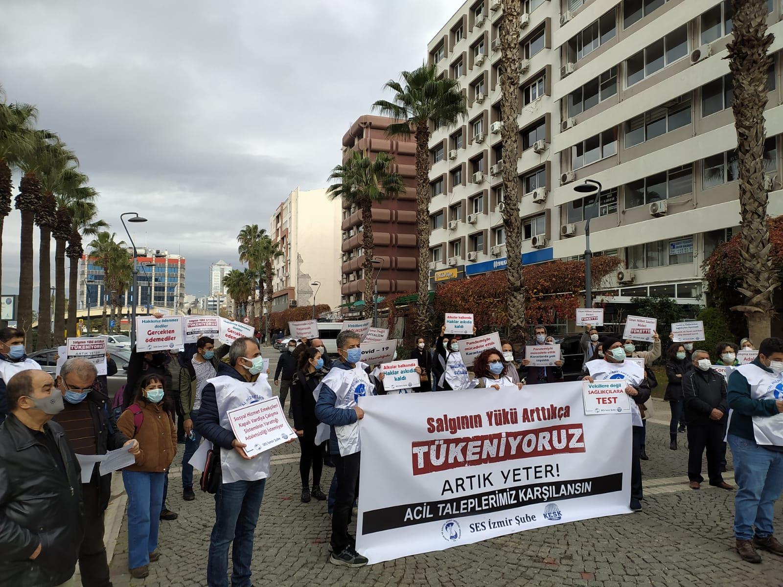 İzmir Şubemiz: Salgının Yükü Arttıkça Tükeniyoruz! Artık Yeter, Taleplerimiz Karşılansın