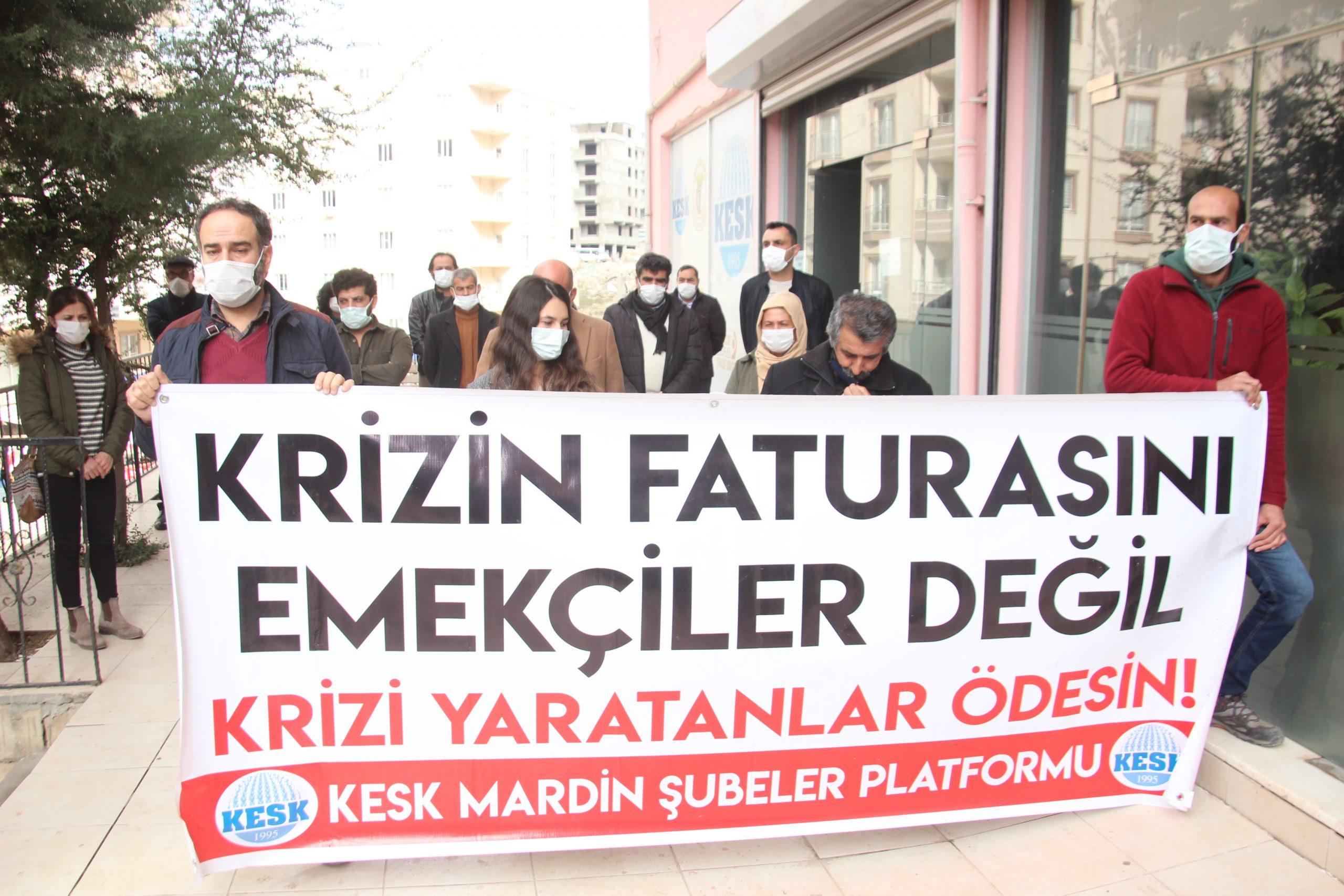 Mardin Emek ve Demokrasi Platformu: Patronlara Değil, Emekçilere Bütçe