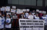 İstanbul Aksaray Şubemiz: Kuru Ekmek Zammı Değil, Temel Ücrete Zam İstiyoruz