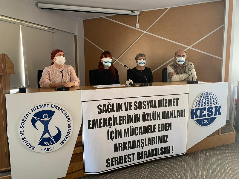 Sağlık Emek ve Meslek Örgütleri Ankara Şehir Hastanesi Önünde Yapılmak İstenen Eylemin Engellenmesine ve Yaşanan Gözaltılara Tepki Gösterdi