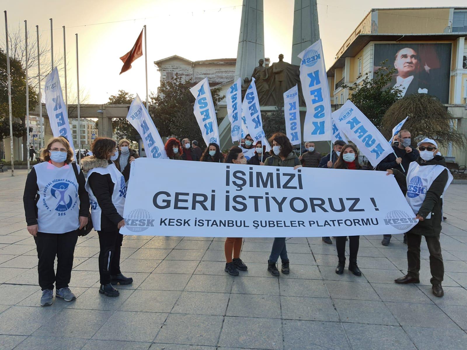 İSTANBUL'DA İHRAÇLAR İÇİN EYLEM YAPILDI